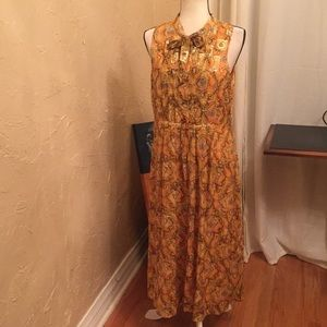 Beautiful HD in Paris yellow/gold dress us 12